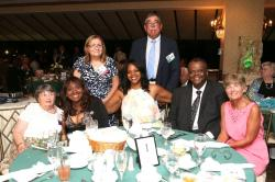 LBHS(242) Table 1 - L-R - Mrs. Forsyth, Yvonne Thornton, Jeanne Germann, Kimberly McClelland, Jerry Van Brunt, Sherwood