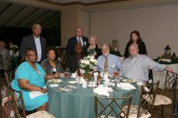 LBHS(252) Table 8 - Sitting - Anita Williams, Dorris Gillis-Fields, Mr. Fields, Carl Larson, Bob Guice, Standing -Edward