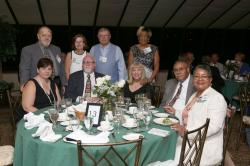 LBHS(256) Table 13 - Sitting - Angie Orego, Joel Fisher, Roberta Fisher, Mr. Williams, Angela Henson-Williams, Standing