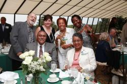 LBHS(167) -Sitting - Angela Williams-Henson, Mr. Henson - Standing - Frank and Mrs. Orego, Helen Jones-Barnwell, Cheryl