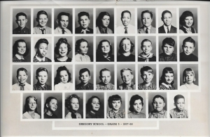 Mrs. Develin's 5th Grade Class 1957-58