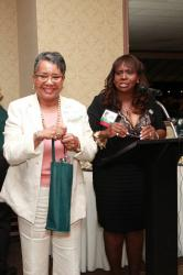 LBHS(319) Angela Williams-Henson, Yvonne Thornton - Angela won for the longest married (52 years!!!)