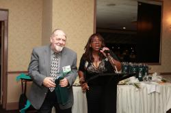 LBHS(321) Frank Orego, Yvonne Thornton presenting prize for the most number of children - 7-