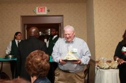 LBHS(323) Bob Guice, pretty happy with his tray of cookies